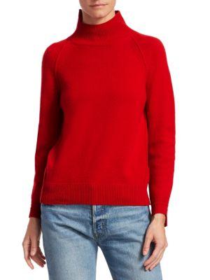 Turtleneck Rib-Knit Cashmere Sweater, Siren