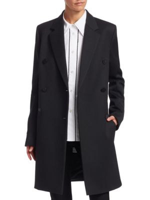 Wool Blend Boyfriend Blazer Coat by Helmut Lang