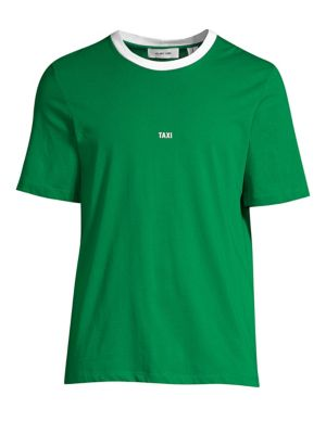 "HELMUT LANG ""Taxi"" Cotton T-Shirt - Green Size S"