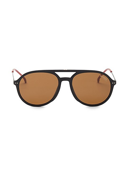 Image of Classic aviators flaunt a double bridge finish.53mm lens width; 17mm bridge width; 135mm temple length. Metal/polyamide. Made in Italy.