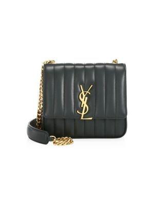 db4ffa7e8 Saint Laurent - Medium Vicky Matelassé Leather Shoulder Bag - saks.com