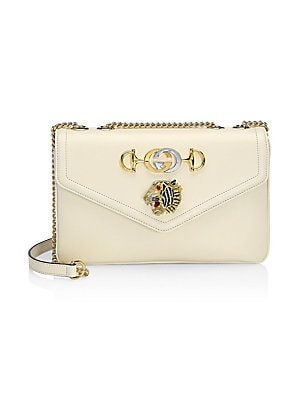88b1331a46e Gucci - Medium Rajah Embellished Leather Shoulder Bag - saks.com