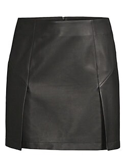 ca60f9fd919eaf Robert Rodriguez. Leather Mini Skirt