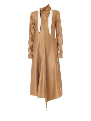 Bandana A-Line Dress, Camel