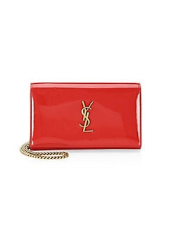 d23f6c5066c Saint Laurent. Patent Leather Wallet-On-Chain