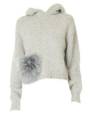 Tibi Smocked Sleeve Sweatshirt Sakscom