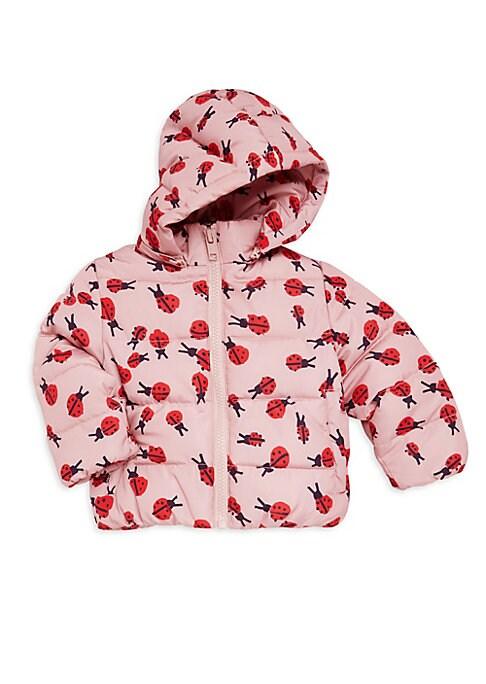 Baby Girls Hubert Ladybug Print Puffer Jacket