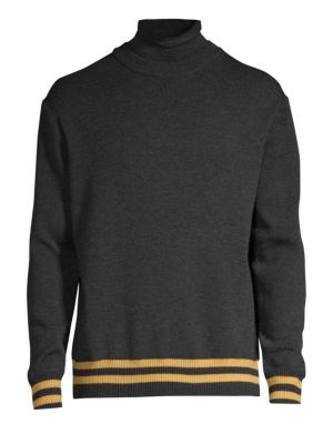 SOLID HOMME Wool Turtleneck Sweater in Grey