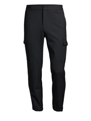 SOLID HOMME Stretch Wool Joggers in Navy