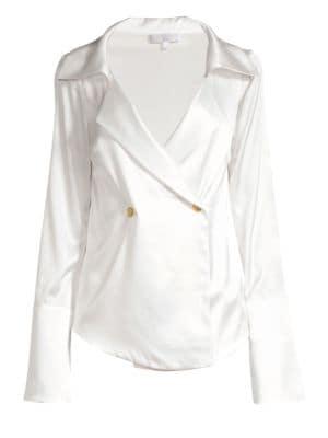 Apollo Silk Blouse by Caroline Constas