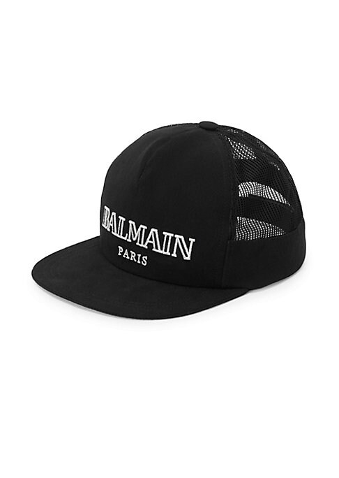 Image of Athletic mesh cap finished with logo front design. Back grip tape strap. Cotton. Hand wash. Made in Italy.