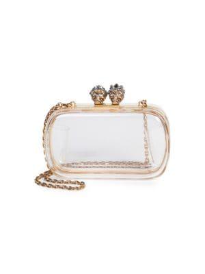 Queen & King Transparent Box Clutch - White