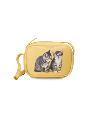 Cats Everyday Leather Camera Bag by Balenciaga