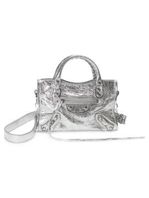 Metallic Mini City Bag by Balenciaga