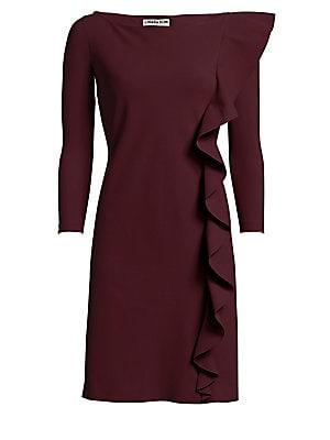 6746436f Chiara Boni La Petite Robe - Hea Side Ruffle Sheath Dress - saks.com