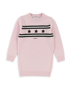 Little Girl's & Girl's Knit Logo Star Dress by Givenchy