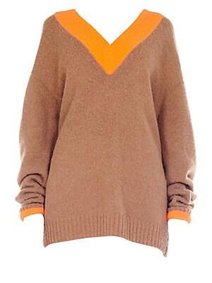 52f1bdff7aa79e Tibi - Deep V-Neck Sweater - saks.com