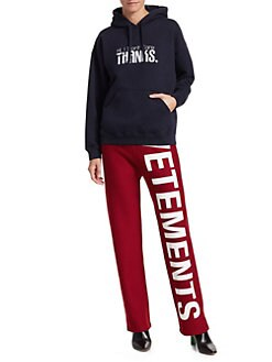 1a6eeb2b89 Vetements. Cotton Graphic Fitted Hoodie