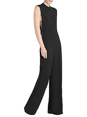 2b88311eb060 Stella McCartney - Lace-Up Sleeveless Jumpsuit