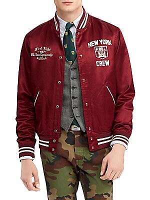Lauren Vintage Polo Satin Jacket Varsity Ralph HWYEI29D