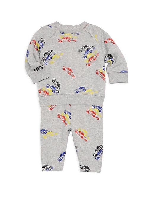 Baby Boys Car Print TwoPiece Tee  Pants Set