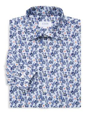 830b3e07 Eton - Slim Floral Print Shirt - saks.com
