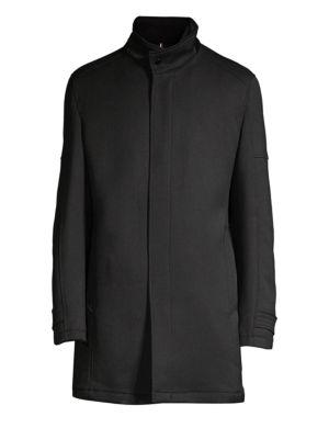 STRELLSON Bronx Wool-Blend Short Coat in Black