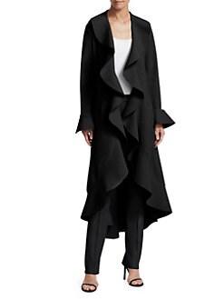 311061294ec Chiara Boni La Petite Robe. Shiva Ruffle Coat