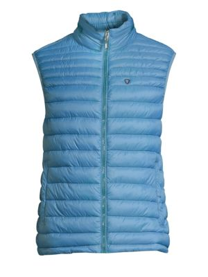 STRELLSON Slim-Fit Quilted Down Vest in Pastel Blue