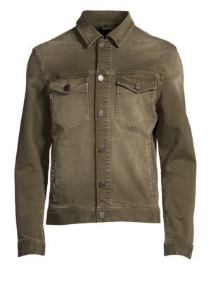 STRELLSON Slim-Fit Jacko Denim Jacket in Dark Green