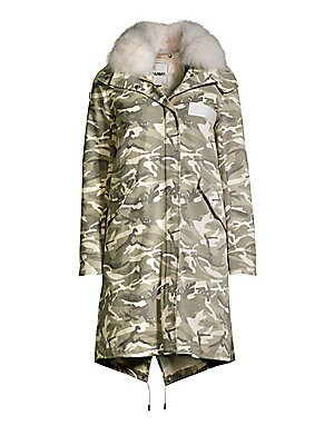 f6bfbefe620d7 Army by Yves Salomon - Camouflage Fox Fur-Trim Jacket - saks.com