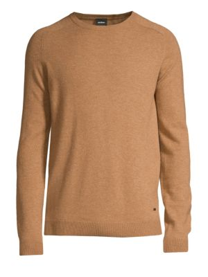 STRELLSON Larry Slim-Fit Virgin Wool Sweater in Light Beige