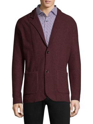 STRELLSON Bowden Regular-Fit Knit Blazer in Dark Red
