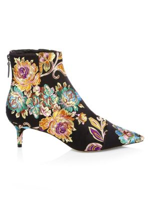 Floral Embroidery Bootie in Multi
