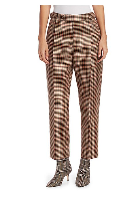 Image of From the Saks IT LIST. SUIT YOURSELF. The new suit: equal parts precision tailoring and feminine fit. MAD FOR PLAID. See the traditional check in dozens of new ways. Easy to wear and ever-flattering, the perfect pleated high-waist pant is an enduring ward
