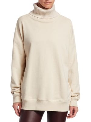 Cotton Turtleneck Sweatshirt by Helmut Lang