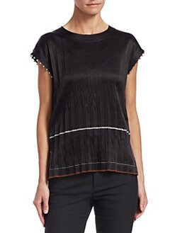 02704bef8c5e4 Helmut Lang - Crinkle Pleated Top