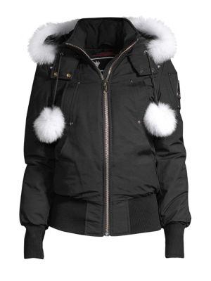 0dfde2ad6 Debbie Fox Fur-Trim Bomber Jacket