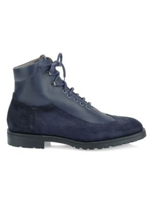 SUTOR MANTELLASSI Peleo Leather Boots in Navy