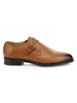 SUTOR MANTELLASSI Namas Single Monk Strap Leather Derby Shoes in Cuir De Russie