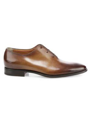 Santoni Leather Dress Shoes
