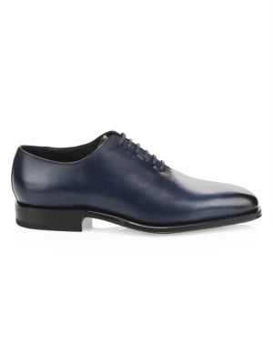 SUTOR MANTELLASSI Oliver Leather Lace-Up Dress Shoes in Blue