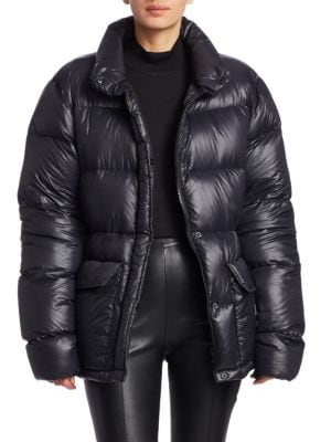 Oversize Down Fill Puffer Coat, Black