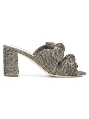 Adele Metallic Bow Slide Sandal