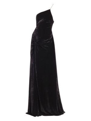 Liza Velvet Slit Gown by Cinq à Sept