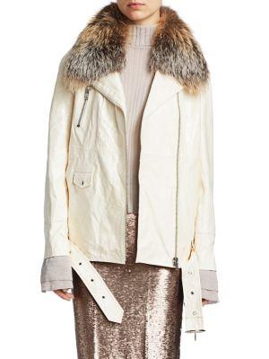 3bff0bd6e Complete the Look. Cinq à Sept - Emilia Fox-Fur Trimmed Leather Jacket