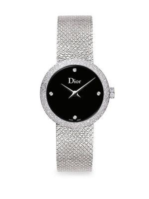 6b37cfffe Dior - La Mini D de Dior Diamond, Stainless Steel & Satin Strap ...