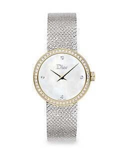 QUICK VIEW. Dior. La D De Dior 25MM White   Gold Satine Watch 3026964021a8