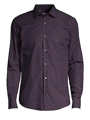 4f8eceb8356b Salvatore Ferragamo - Lettering Printed Sport Shirt - saks.com