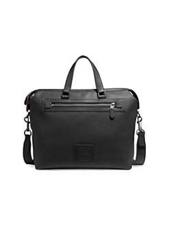 9144c6d14e COACH. Academy Textured Leather Hold-All Bag